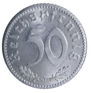 Worldcoins Germany Third Reich 50 Pfennig