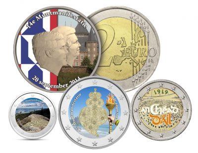 Speciale 2 Euromunten Muntmanifestatie - Color Coins