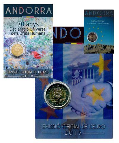 Speciale 2 Euromunten Andorra Coincards