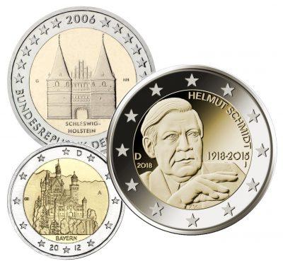 Speciale 2 Euromunten Duitsland Unc
