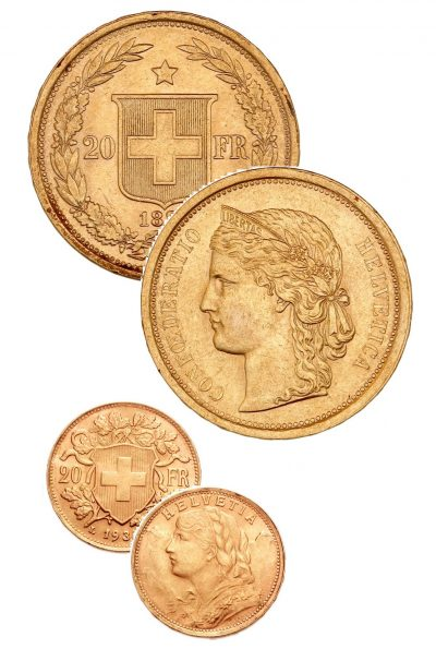 Gold Coins Zwitserland
