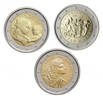 Speciale 2 Euromunten San Marino Unc