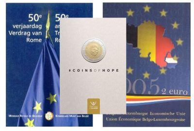 Speciale 2 Euromunten Belgie Fdc Blister
