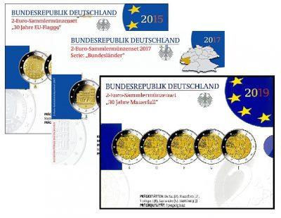 Speciale 2 Euromunten Duitsland Proof Blister