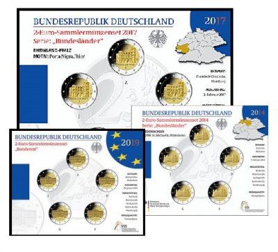 Speciale 2 Euromunten Duitsland Bu Blister
