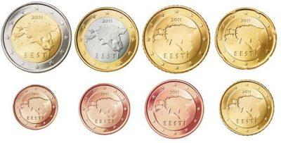 Euromunten Unc Sets Estland