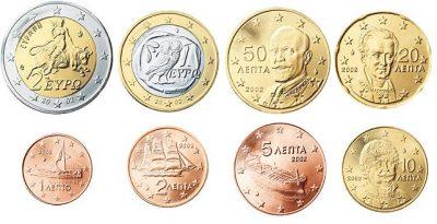 Euromunten Unc Sets Griekenland