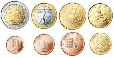 Euromunten Unc Sets Italie