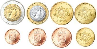 Euromunten Unc Sets Letland