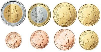 Euromunten Unc Sets Luxemburg