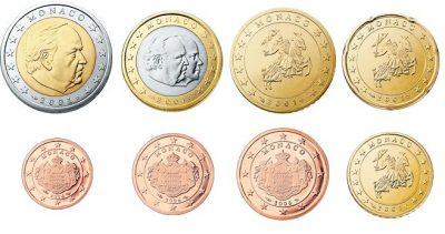 Euromunten Unc Sets Monaco