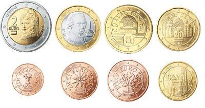 Euromunten Unc Sets Oostenrijk