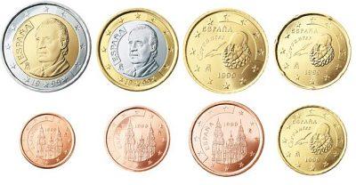Euromunten Unc Sets Spanje