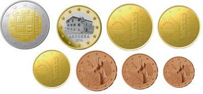 Euromunten Unc Sets Andorra