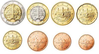 Euromunten Unc Sets Slowakije
