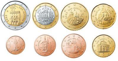 Euromunten Unc Sets San Marino