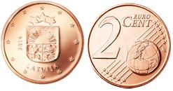 Letland 2 Cent