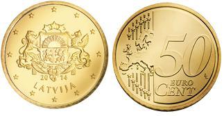 Letland 50 Cent