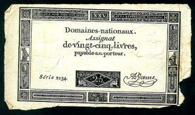 Bankbiljetten France Assignat
