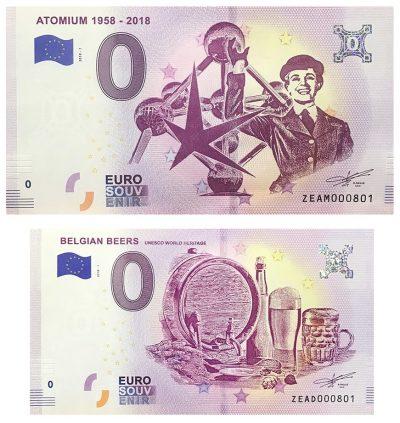 0 Euro Biljet Belgium