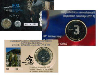 Speciale 2 Euromunten Slovenie Coincard