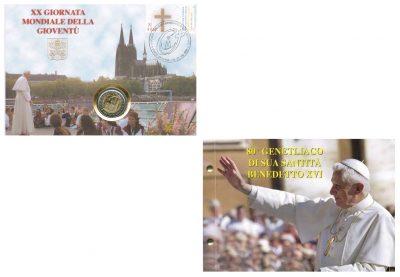 Speciale 2 Euromunten Vaticaan Numisbrief