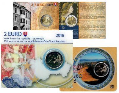 Speciale 2 Euromunten Slowakije Coincards
