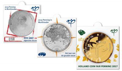 Nederland Penningen / Munten In Munthouders