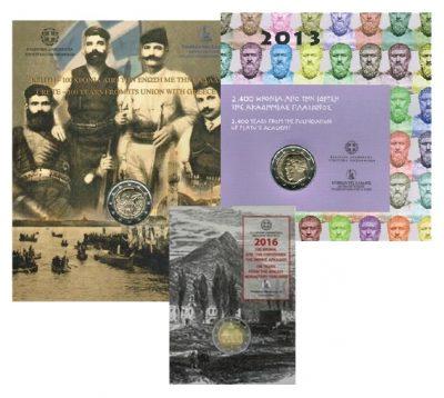 Speciale 2 Euromunten Griekenland Coincards