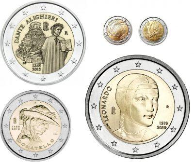 Speciale 2 Euromunten Italie Unc