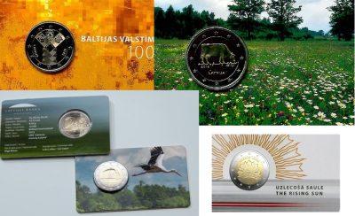 Speciale 2 Euromunten Letland Coincards