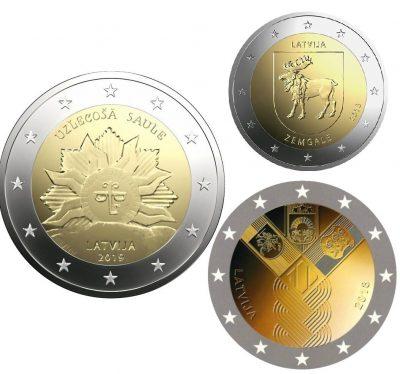 Speciale 2 Euromunten Letland Unc