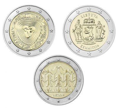 Speciale 2 Euromunten Litouwen Unc