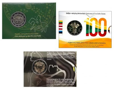 Speciale 2 Euromunten Litouwen Coincards