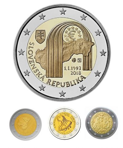 Speciale 2 Euromunten Slowakije Unc