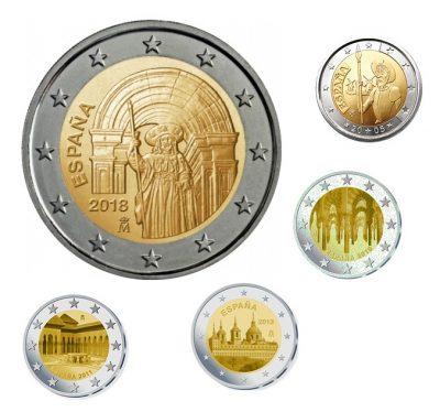 Speciale 2 Euromunten Spanje Unc