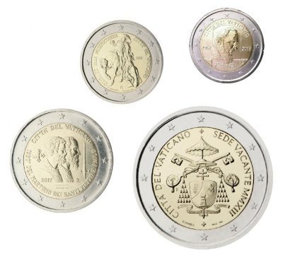 Speciale 2 Euromunten Vaticaan Unc