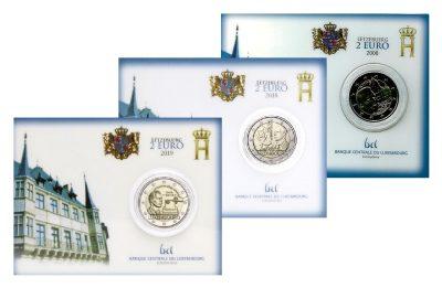 Speciale 2 Euromunten Luxemburg Coincards