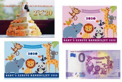 0-Euro Biljet Kado Verpakking Baby / Huwelijk