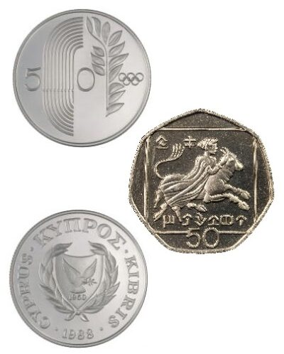 Worldcoins Cyprus 50 Cents