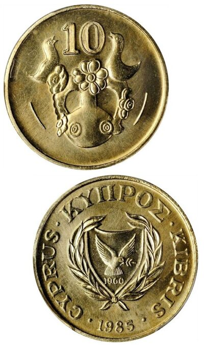 Worldcoins Cyprus 10 Cents