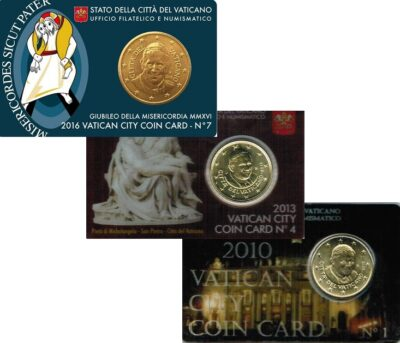 Vaticaan Coincards Zonder Postzegel