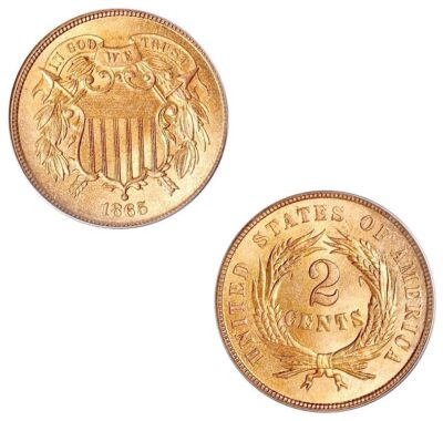 Worldcoins United States of America 2 Cent