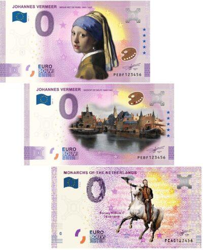 0 Euro Biljet Netherlands Color