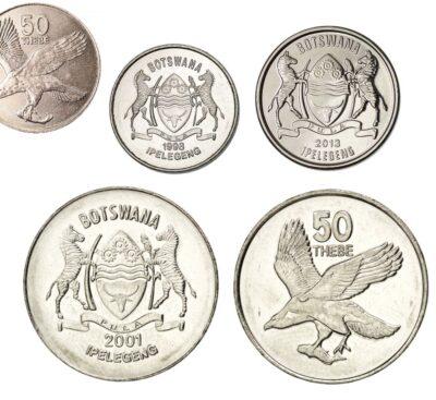 Worldcoins Botswana 50 Thebe