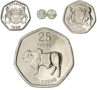 Worldcoins Botswana 25 Thebe
