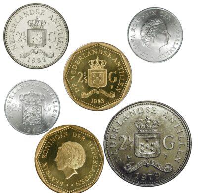 Worldcoins Netherlands Antilles 2½ Gulden