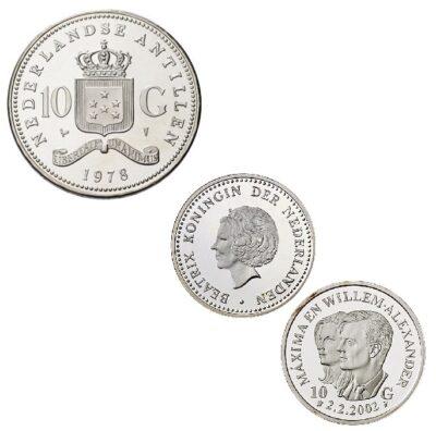 Worldcoins Netherlands Antilles 10 Gulden