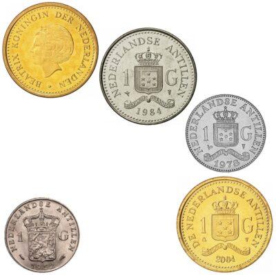Worldcoins Netherlands Antilles 1 Gulden