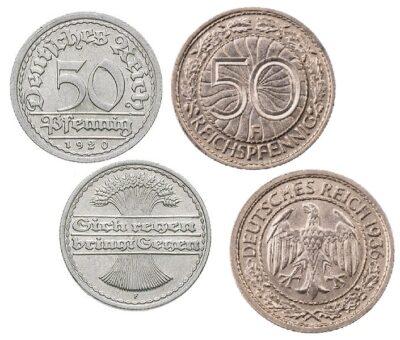 Worldcoins Germany Weimar Republic 50 Pfennig